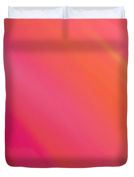 Orange And Raspberry Sorbet Abstract 3 Duvet Cover by Andee Design
