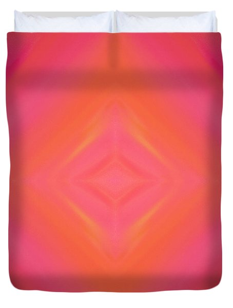 Orange And Raspberry Sorbet Abstract 4 Duvet Cover by Andee Design