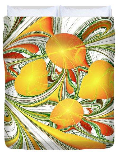 Orange Attitude Duvet Cover