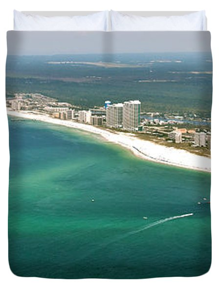 Looking N W Across Perdio Pass To Gulf Shores Duvet Cover