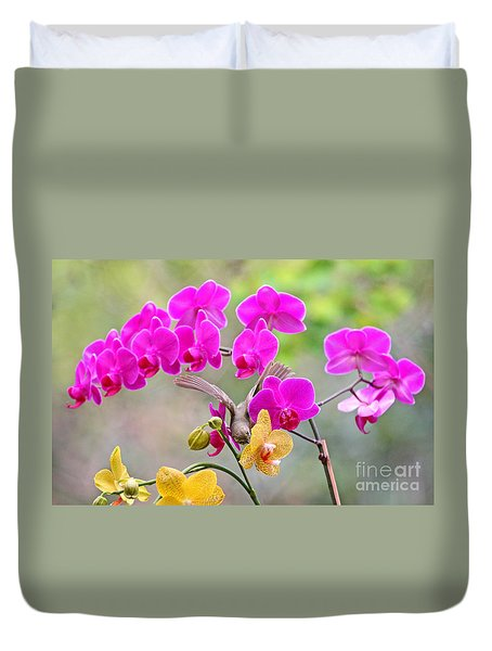 Warbler On Orchards Photo Duvet Cover