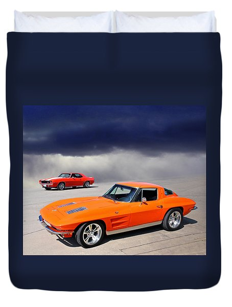 Orange Crush Duvet Cover