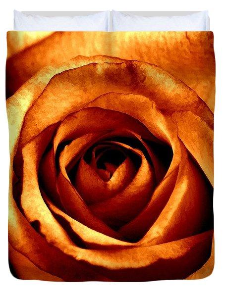 Orange Crush Duvet Cover by Peggy Hughes