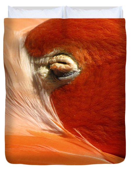 Flamingo Orange Eye Duvet Cover