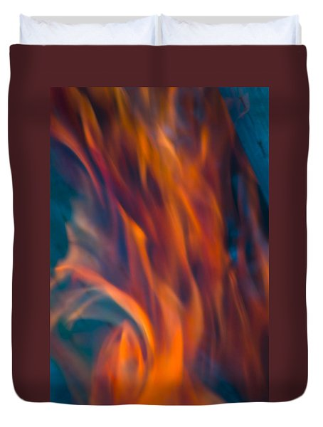 Orange Fire Duvet Cover