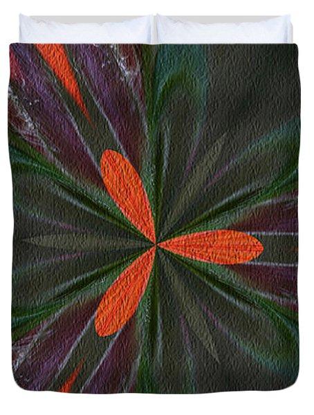 Orange Green And Purple Duvet Cover