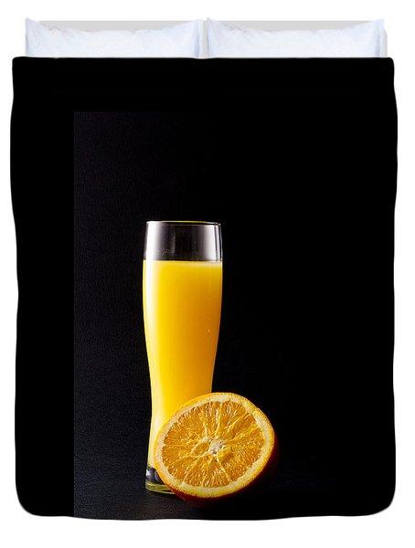Orange Juice Duvet Cover by Gergana Chakalova