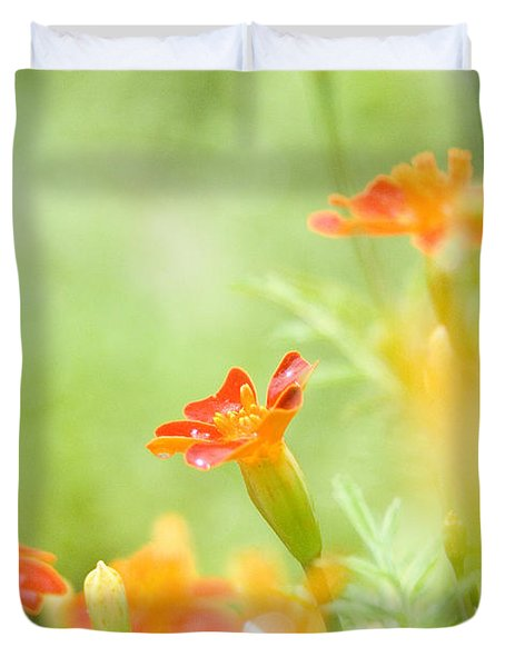 Orange Meadow Duvet Cover
