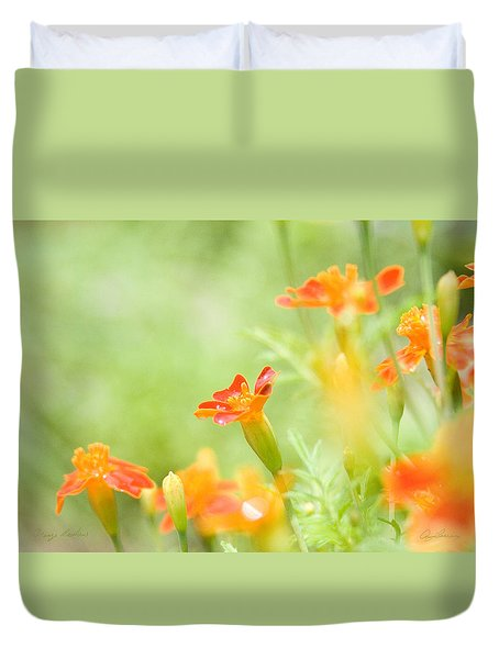 Orange Meadow Duvet Cover