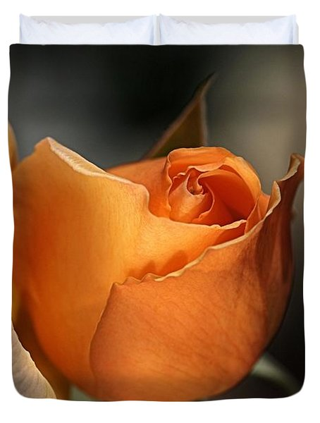 Duvet Cover featuring the photograph Orange Mood by Joy Watson