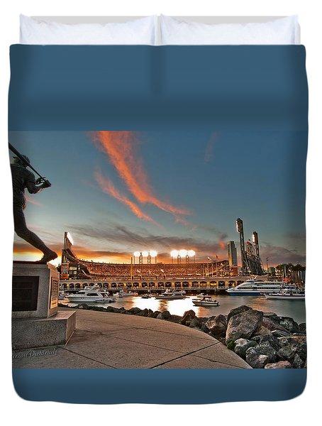 Orange October 2012 Celebrates The San Francisco Giants Duvet Cover