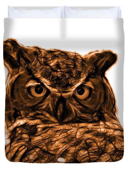 Orange Owl 4436 - F S M Duvet Cover