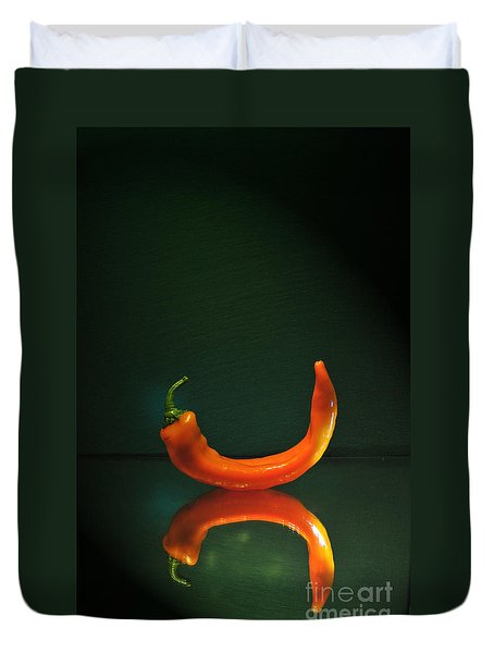Orange Pepper Duvet Cover