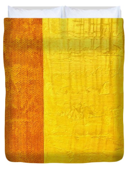 Orange Pineapple Duvet Cover by Michelle Calkins