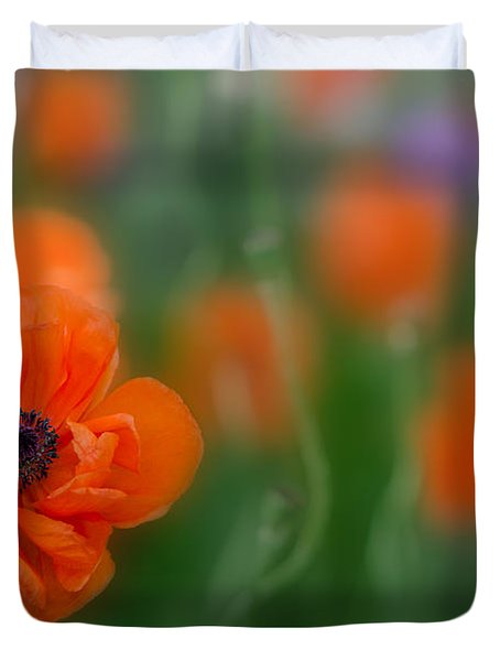 Orange Poppy Duvet Cover
