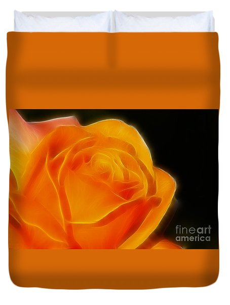 Orange Rose 6308 Duvet Cover by Gary Gingrich Galleries