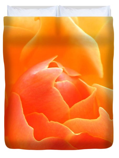 Orange Sherbet Duvet Cover