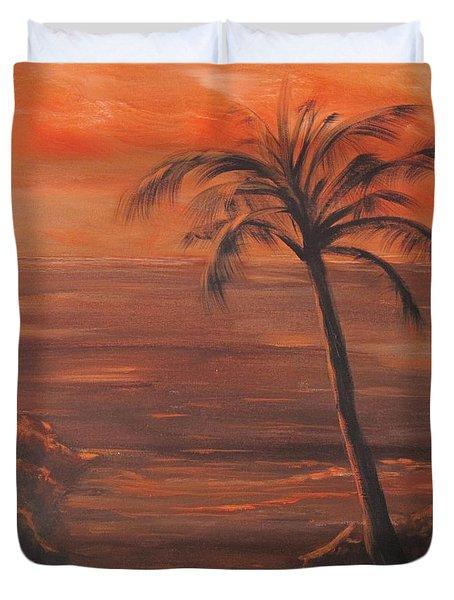 Orange Sky Duvet Cover