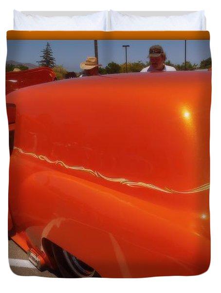 Orange Splash Panel Duvet Cover by Bobbee Rickard