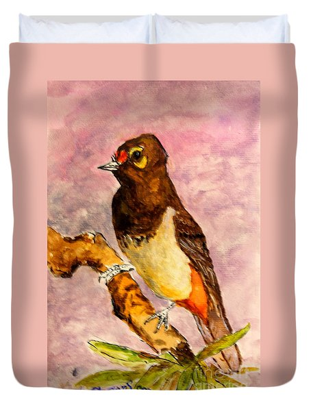 Orange-spotted Bulbul Duvet Cover