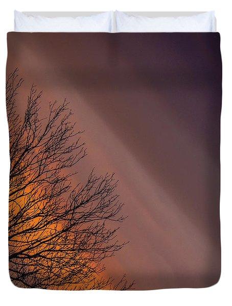 Orange Sunrise Duvet Cover