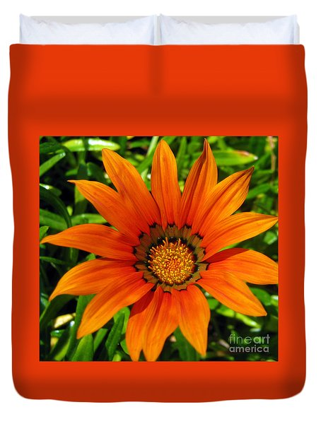 Duvet Cover featuring the photograph Orange Sunshine by Janice Westerberg