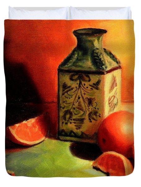 Orange Temptation Duvet Cover