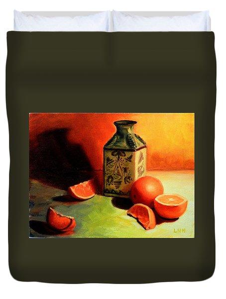 Orange Temptation, Peru Impression Duvet Cover