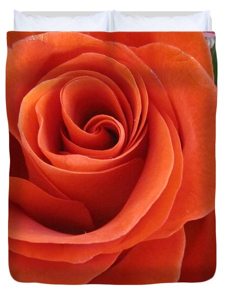 Orange Twist Rose 2 Duvet Cover