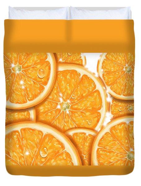 Orange Duvet Cover by Veronica Minozzi