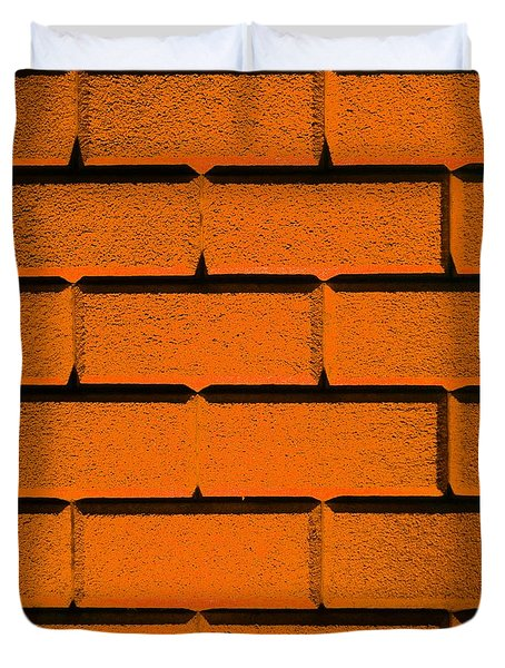Orange Wall Duvet Cover by Semmick Photo