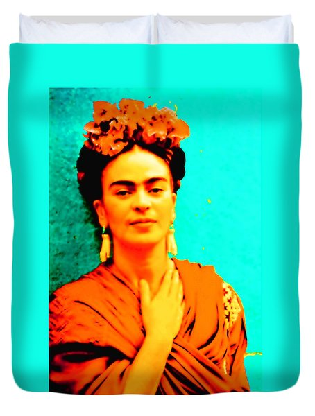 Orange You Glad It Is Frida Duvet Cover