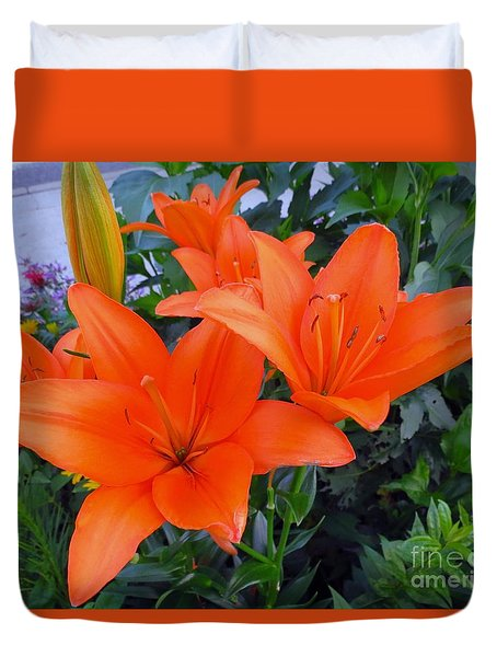 Orange You Are Pretty Duvet Cover