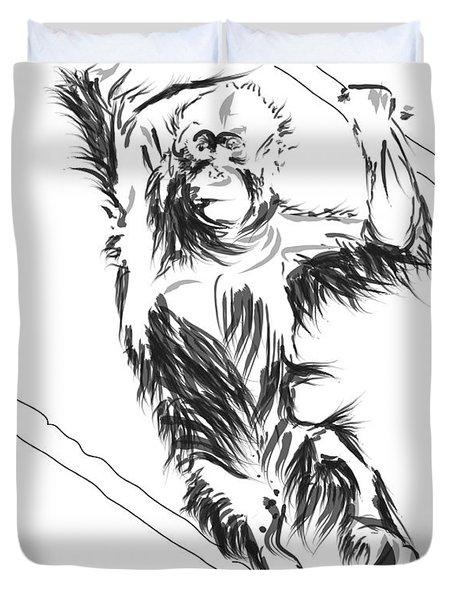 Orangutan 3 Duvet Cover