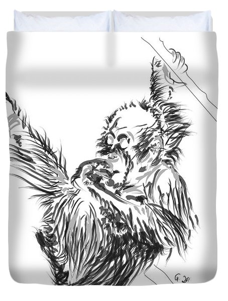 Orangutan Baby 2 Duvet Cover