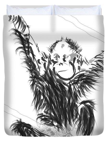 Orangutan Baby Duvet Cover