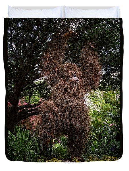 Orangutan Duvet Cover by Joan Carroll