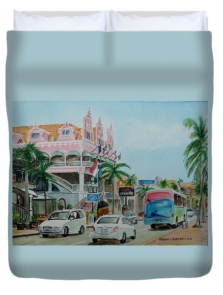 Oranjestad Aruba Duvet Cover by Frank Hunter