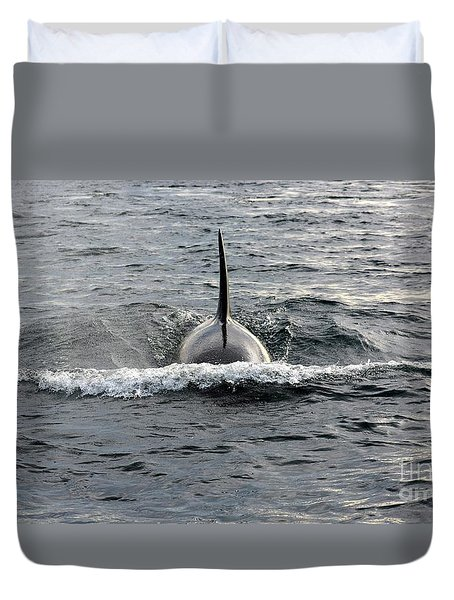 Orca Approach Duvet Cover