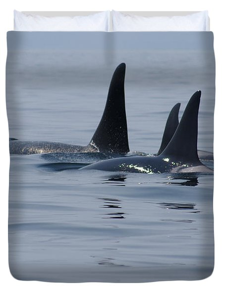 Orca Family Duvet Cover
