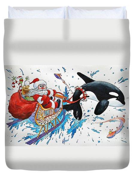 Orca Santa Duvet Cover by James Williamson