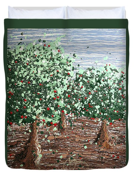 Orchard 4 Duvet Cover by Ric Bascobert