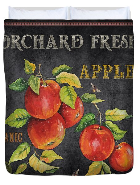 Orchard Fresh Apples-jp2638 Duvet Cover by Jean Plout