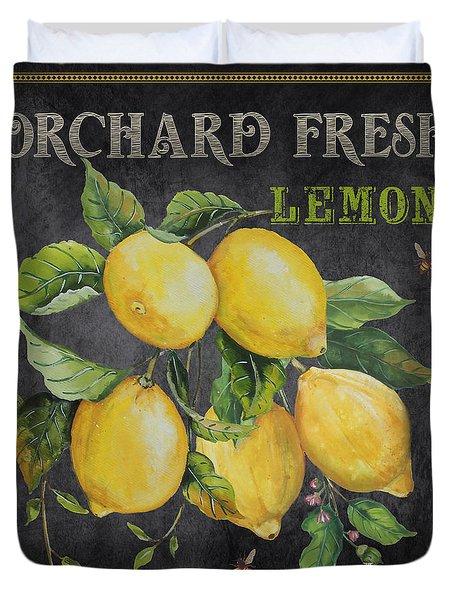 Orchard Fresh Lemons-jp2679 Duvet Cover by Jean Plout