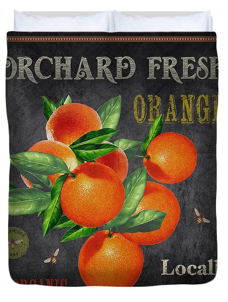 Orchard Fresh Oranges-jp2641 Duvet Cover
