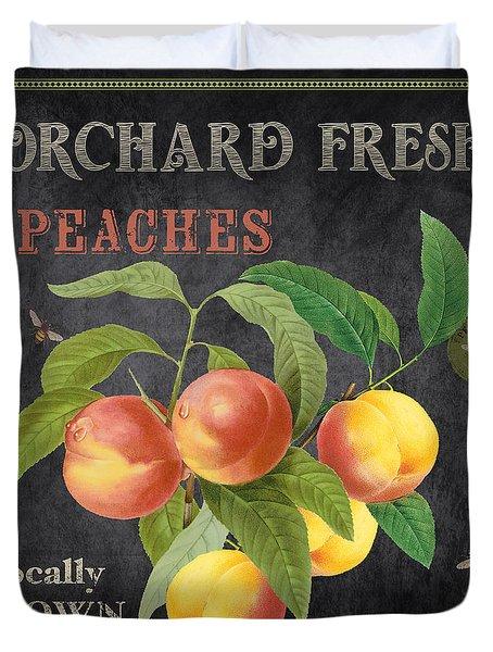 Orchard Fresh Peaches-jp2640 Duvet Cover