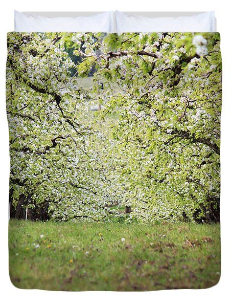 Duvet Cover featuring the photograph Orchard by Patricia Babbitt