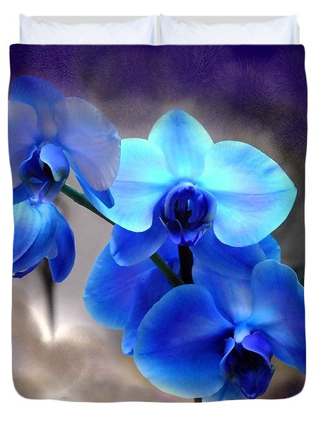 Orchid Art Duvet Cover by Wendy McKennon
