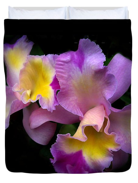 Orchid Embrace Duvet Cover by Jessica Jenney