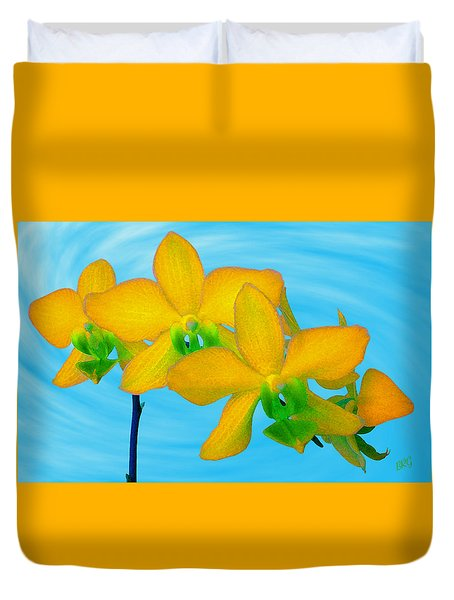 Orchid In Yellow Duvet Cover